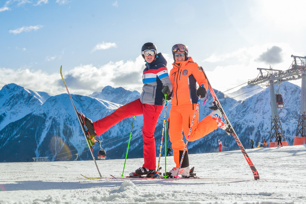 Skiing Adults